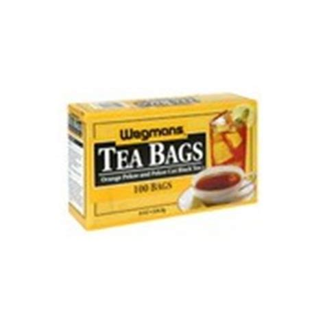 The bottom line is that caffeine content is highly variable. Wegmans Tea Bags, Orange Pekoe and Pekoe Cut Black Tea ...