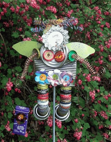 Best 25+ Recycled Garden Art Ideas On Pinterest Garden