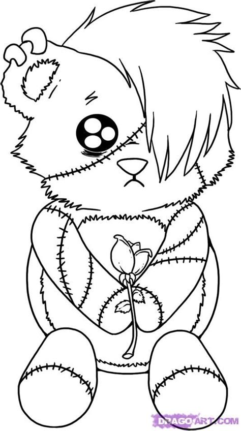 gothic fairy coloring pages emo coloring pages bear