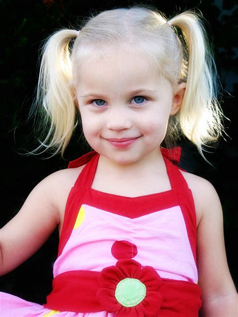 Preschool Girls Pigtails