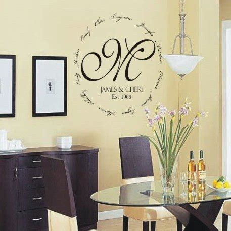 kitchen cabinets deals personalized family encircling monogram wall decal 2957