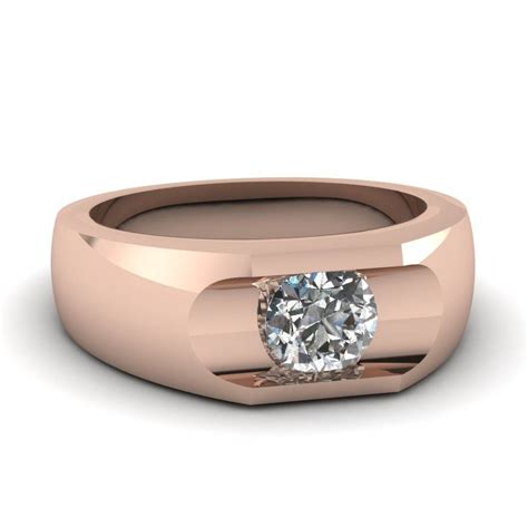 15 best ideas of rose gold men s wedding bands with diamonds