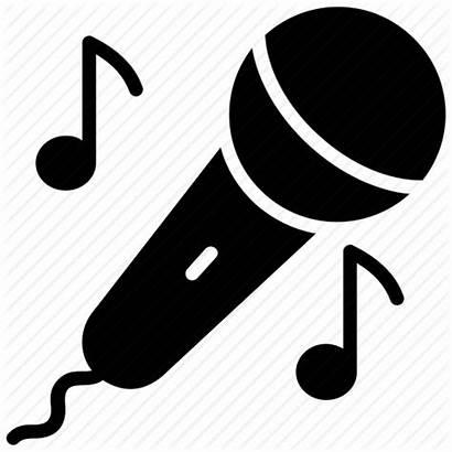 Singing Symbol Sing Song Icon Karaoke Mic