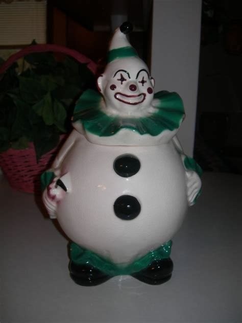 Collectible Vintage 1950 Clown Cookie Jar by Lane Co
