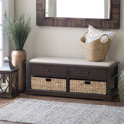 Living Room Storage Seat by 8 Foot Storage Bench