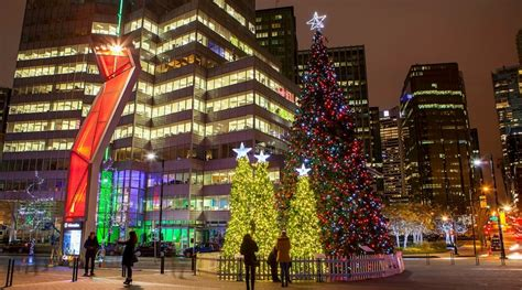 vancouver christmas tree lighting relocates to robson