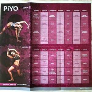 Piyo Workout 60-Day Calendar