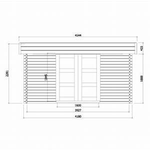 Abri de jardin en bois fsc toit plat 1371m2 40mm for Exceptional maison toit plat bois 17 madrier dimension