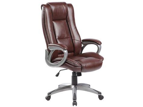 fauteuil de bureau coach coloris marron vente de fauteuil de bureau conforama
