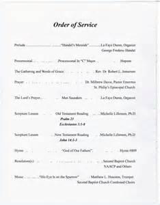 Sample Church Programs Order of Service