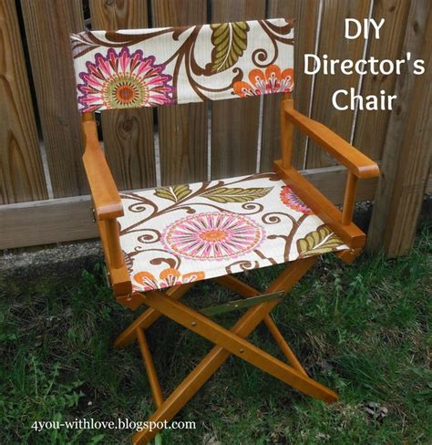 4 you with diy director s chair tutorial on make a