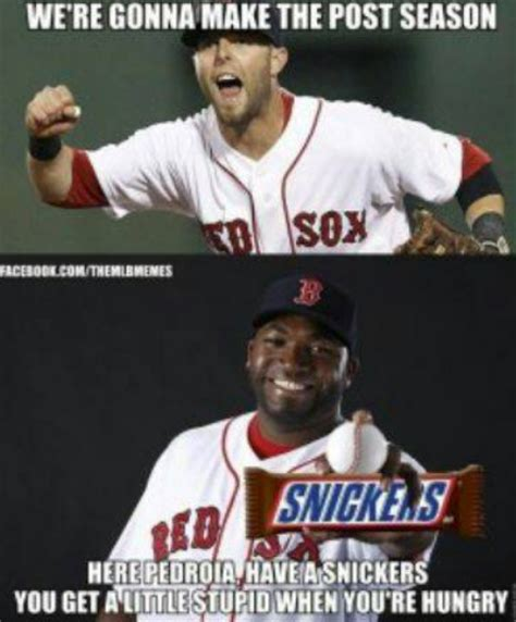 Funny Red Sox Memes - bleeding yankee blue beating david ortiz makes me happy