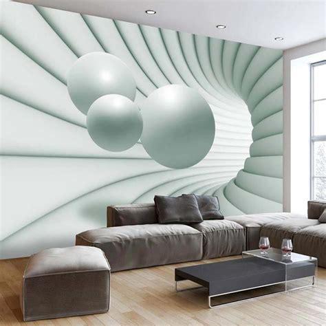 stickers muraux chambre ado papier peint 3d créant un effet abstrait et trompe l œil