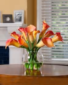 faux floral arrangements buy calla silk flower centerpiece at petals