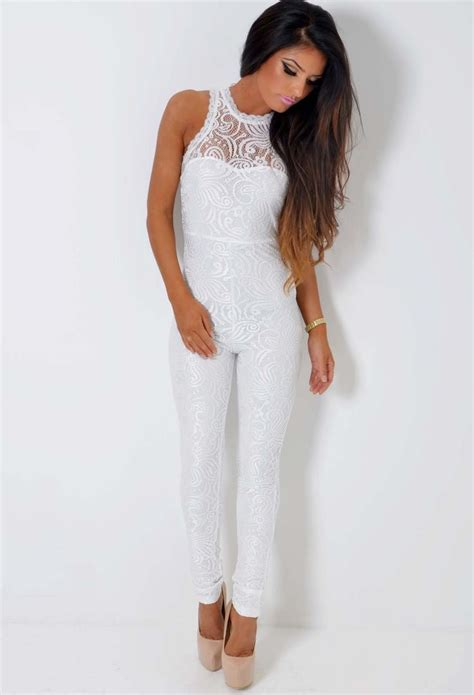 lace jumpsuit white lace jumpsuit on jumpsuits rompers and playsuits