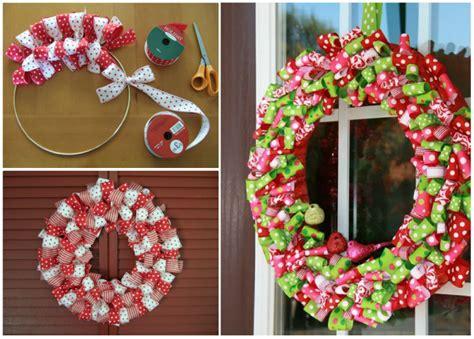wonderful diy easy ribbon christmas wreath