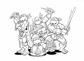HD Wallpapers Online Coloring Pages Ninja Turtles