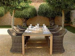 Table En Teck Jardin : salon jardin teck table jardin aluminium maisonjoffrois ~ Dailycaller-alerts.com Idées de Décoration
