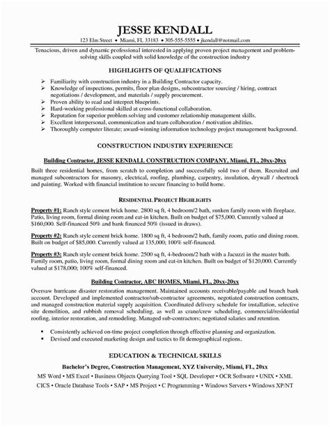 Self Employed Contractor Resume New 9 General Contractor Resume Template Examples Printable