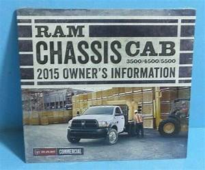 15 2015 Dodge Ram Chassis Cab 3500  4500  5500 Owners Manual Reference Dvd New