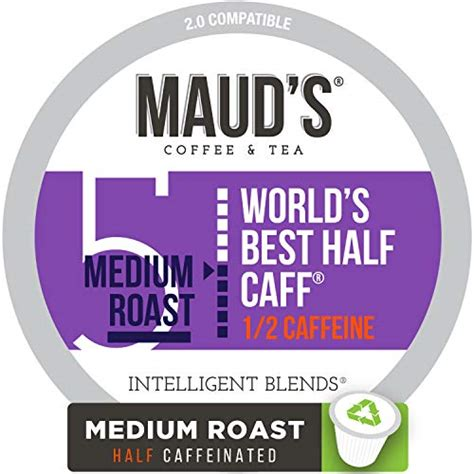Contains twice as much caffeine as an average cup of coffee. Green Mountain Coffee, Half-Caff, Single-Serve Keurig K ...