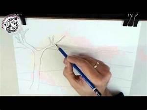 Cómo enseñar a niños dibujo artístico: Dibujar un paisaje realista El planteamiento y el esbozo