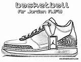 Coloring Basketball Shoe Pages sketch template