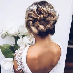 wedding styles braided bun wedding hairstyles photos brides