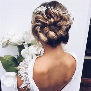 Braided Bun Wedding Hairstyles Photos Brides