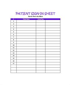 Doctors Office Patient Sign Sheet