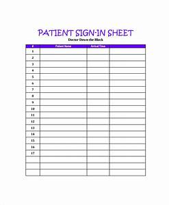 8 doctor sign in sheets sample templates for Dr office sign in sheet template
