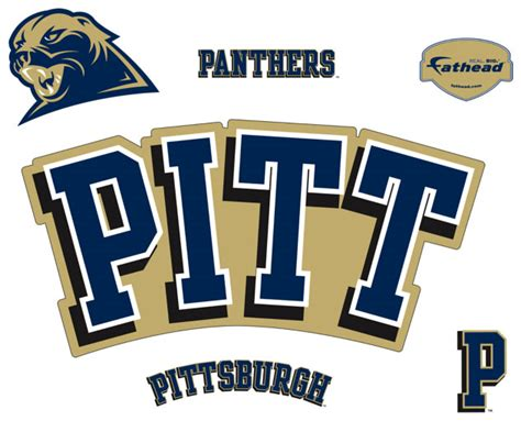 Pittsburgh Logo Fathead Ncaa Wall Graphic