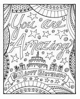 Coloring Birthday Adults Kleurplaat Amazing Printable Bent Gelukkige Verjaardag Pdf Kleurplaten Afdrukbare Geweldig Cake Raskrasil sketch template