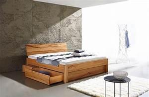 Betten 160x200 Mit Bettkasten : massivholzbett carina bett mit bettkasten ~ Bigdaddyawards.com Haus und Dekorationen