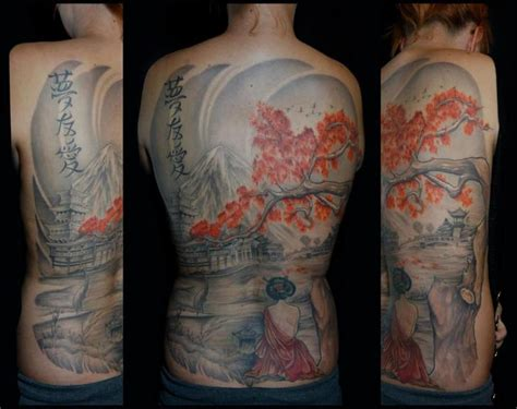 full  geisha japanese tattoo  white rabbit tattoo