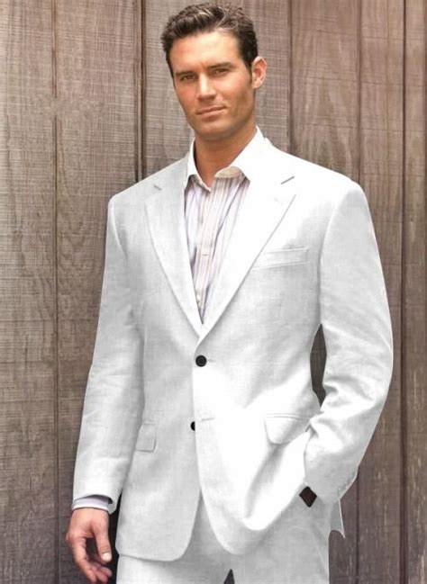 Casual Grey Linen Suits Summer Notched Lapel Men Wedding Suits Grooms Tuxedos Mens Suits Slim