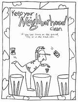Clean Coloring Keep Pages Neighborhood Environment Conservation Trash Printable Drawing Keeping Colouring Throwing Cleaning Save Earth Neighbourhood Ground Recycling Activities sketch template