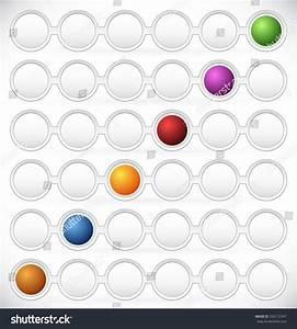 Circular Process Flow Chart Element Color Stock Vector