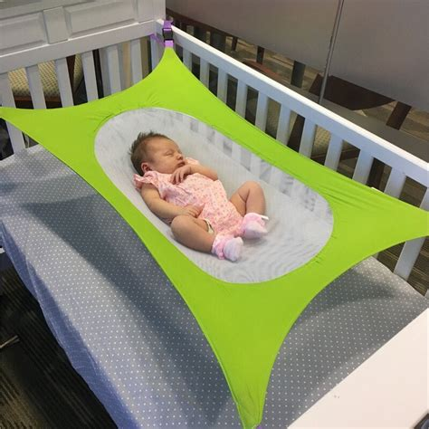 Baby Travel Hammock by Increase Breathable Mesh Cloth Collapsible Unwashable