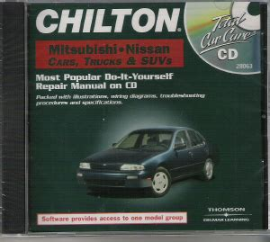chilton car manuals free download 1996 nissan sentra instrument cluster 1982 2000 chilton s mitsubishi nissan car truck van suv repair cd rom