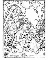 Coloring Pages Fairies Fairy Printable Adults Adult Colouring Sheets Colour Garden Fantasy Cute Advanced Detailed Difficult Mythical Elf Gardens sketch template