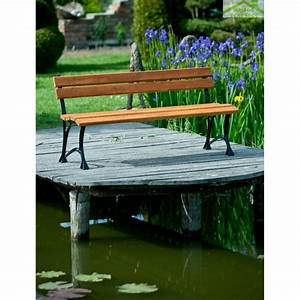 Banc Jardin Bois : banc de jardin en bois couleur teck et aluminium 150cm maison de la tendance ~ Teatrodelosmanantiales.com Idées de Décoration