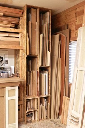 sheet goods storage woodworking furniture plans lumber