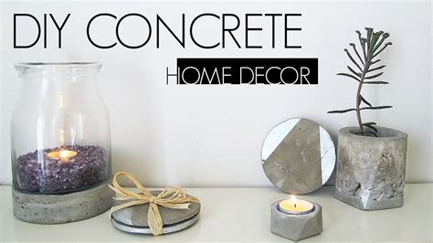 Diy Home Decor Projects And Ideas: DIY CONCRETE HOME DECOR