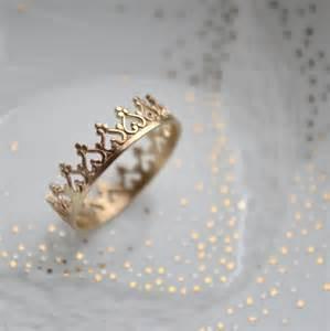 14k solid gold crown ring wedding band engagement ring - Crown Wedding Rings
