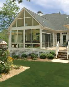 Sun Room with Deck Attached
