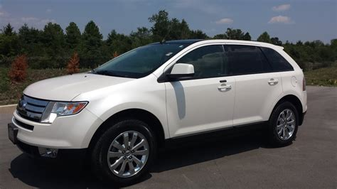 sold ford edge sel white platinum fwd   owner