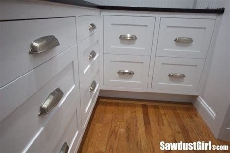 installing drawer pulls how to install cabinet drawer fronts sawdust 174
