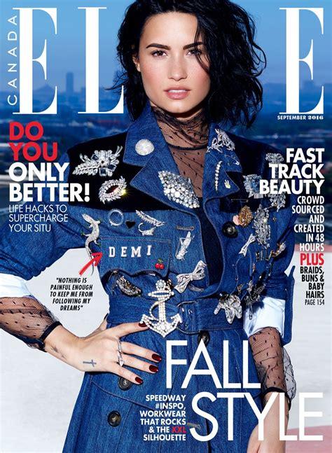 Demi Lovato Elle Canada September 2016 Photoshoot