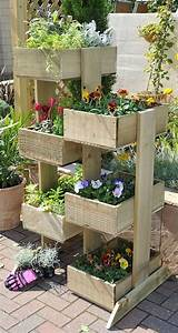 Vertical Wooden Box Planter The Owner-Builder Network
